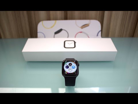 Unboxing Apple Watch Series 4 Space Gray [44mm] + Black Sport Band