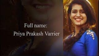 Priya Prakash Varrier Lifestyle Biography  // Height,  Body Measurement // Boyfriend Love Expression