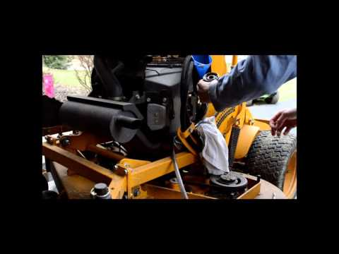 Wright Rapid Height Stander Mower - Changing Oil and Oil Filter