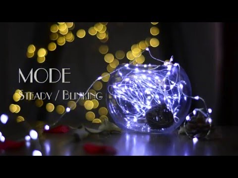 DIY Room Decor! SUPER BRIGHT | 100 Led Copper Wire String Lights White