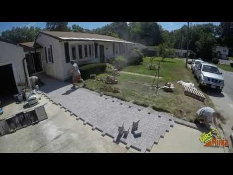 Heated Paver Walkway Construction Timelapse