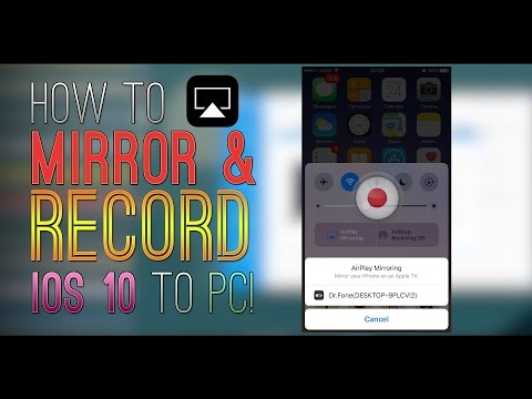 RECORD & MIRROR iOS 10 - 10.2 SCREEN on PC! iOS 10 Screen Recorder / AIRPLAY WINDOWS (iPhone & iPod)