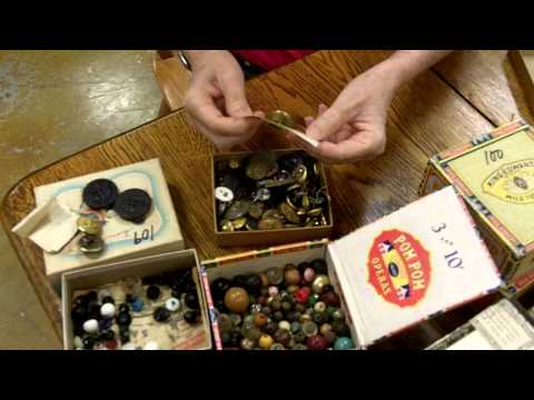 Antique Buttons, Vintage and antique buttons from our antiques mall at Gannon's Antiques & Art.