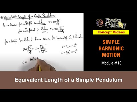 18. Physics | SHM | Equivalent Length of a Simple Pendulum | by Ashish Arora