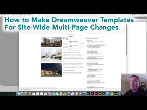 Dreamweaver Templates to make Multi-Page Changes for Websites