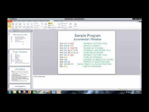 Professional Development 2014: G & M codes