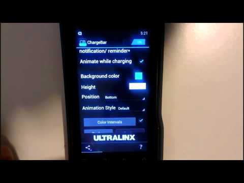 Android User - ChargeBAR (FREE BATTERY INDICATOR)