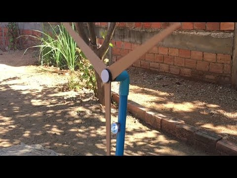Free Energy Generator - How To Make a PVC Windmill Without DC Motor