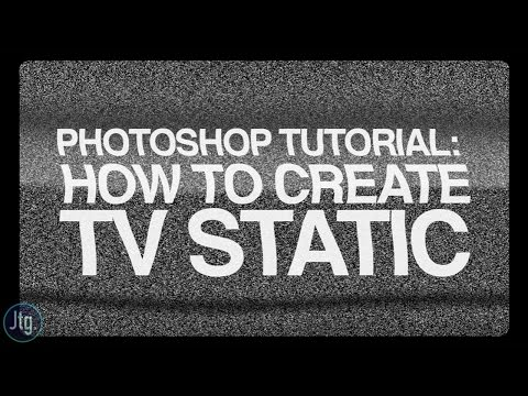 Photoshop CC Tutorial: How to Create TV Static Noise from scratch!