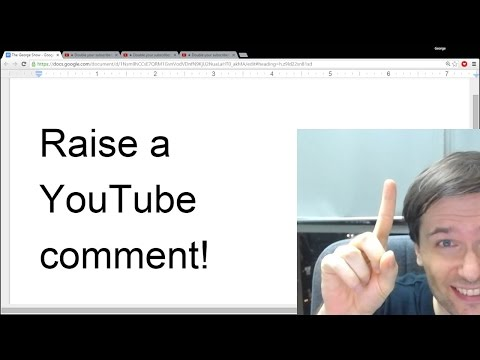 ★ Raise a YouTube comment to the top!