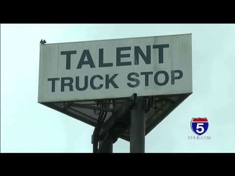 Talent truck stop officially opens