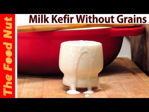 How To Make Milk Kefir WITHOUT Grains - Making Healthy Homemade Fermented Foods | The Food Nut