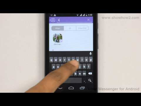 Viber Messenger - How To Search For A Contact