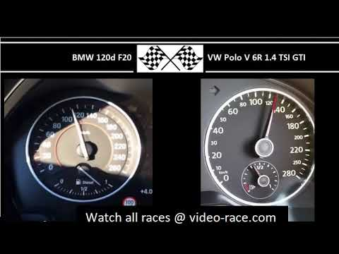 BMW 120d F20 VS. VW Polo V 6R 1.4 TSI GTI - Acceleration 0-100km/h