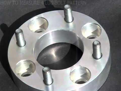 How to measure a 4 lug bolt pattern