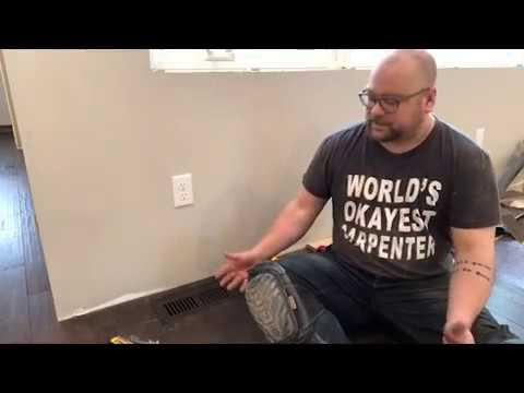 Installing flush floor registers in a new hardwood floor