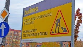 Trasa Łagiewnicka budowa Ruczaj-Zaborze Kraków, XI.2019 Kobierzynska-Roweckiego