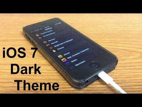 iOS 7 Dark Theme without jailbreak