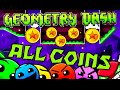 Geometry Dash All Coins Levels 1 20