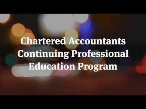 Chartered Accountants Continuing Professional Education Program 2014 - Mini