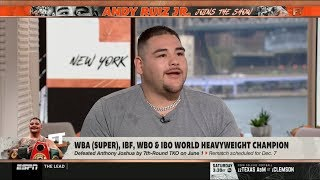 ESPN FIRST TAKE   Heavyweight Champion of the World Andy Ruiz Jr. brings the pain to our NFC set!