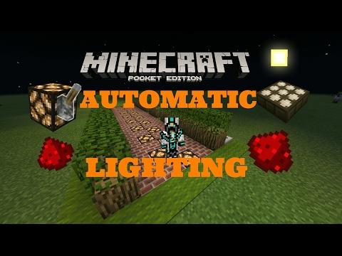 [Minecraft PE] - Automatic Lighting ON/OFF Tutorial