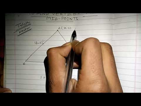 Find vertices of triangle from mid points in 20 seconds!!!!!