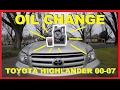 How To Change Oil Toyota Highlander 2000-2007 -Jonny DIY