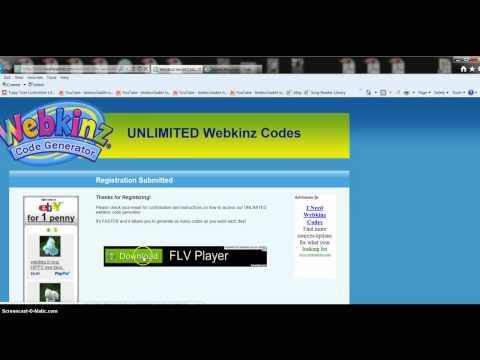 Webkinz Code Generator