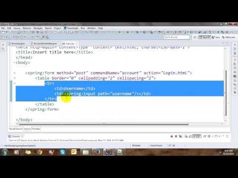 Create Login Validation with Spring MVC Framework