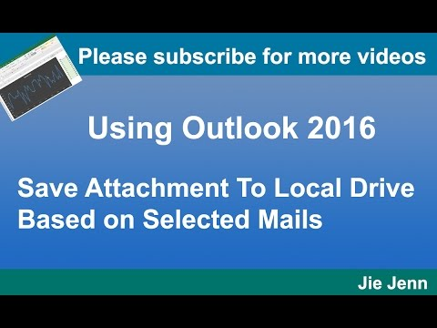Outlook VBA - Save mail attachments to your local drive based on selected emails