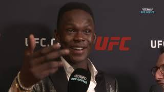 Israel Adesanya's immediate reaction to Jorge Masvidal's record-breaking KO!