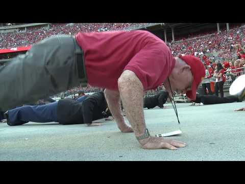 Former Marine, 91, joins Ohio State ROTC to celebrate Buckeye scores