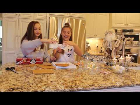 Gingerbread house!!! With my sister Maddie (first day of Kenzmas!)