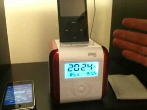 iMini Cute Radio Alarm Clock Dock for iPod/iPhone