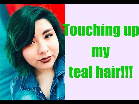How I touch Up My Teal Hair/Roots with Ion Semi Permanent Jade