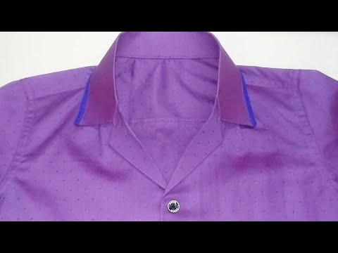 How to make coat collar in shirt