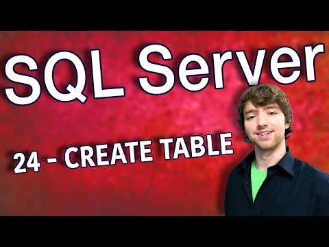 SQL Server 24 - CREATE TABLE