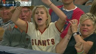 SF@SD: Enthusiastic Giants fan shows her passion