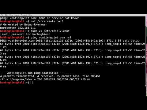 [Kali] Configure your network settings to use Google Public DNS