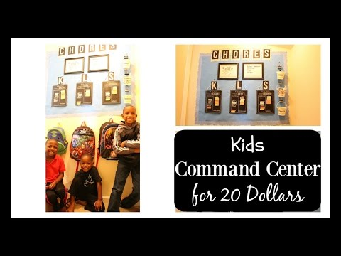 Kids Chore Chart and Command Center for $20