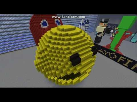 Minecraft Giant 3D Pacman And Ghost