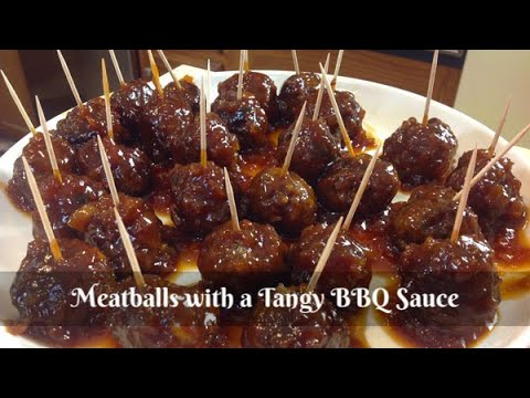 Homemade Meatballs in a Tangy BBQ Sauce ~ Cocktail Meatballs ~ Easy Appetizer