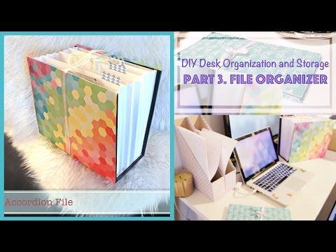 DIY File Organizer from Recycled Box - Desk Organization and Storage Ideas (3)