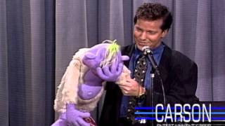Jeff Dunham, Ventriloquist Comedian, and Peanut on Johnny Carson