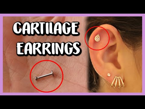 HOW TO REMOVE AND INSERT CARTILAGE EARRINGS/LABRET (16G)