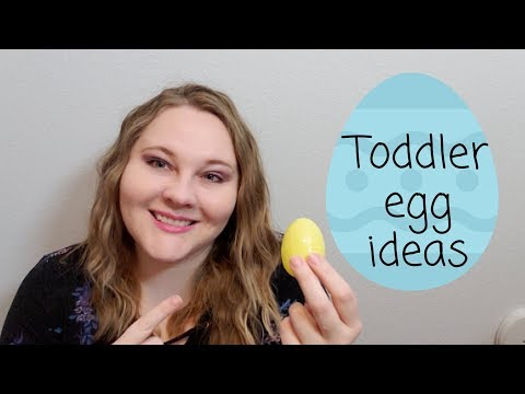Candy Free Easter Egg Idea's For Toddlers!