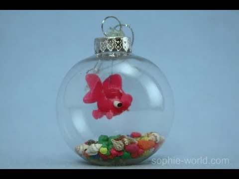 How to Make a Fishbowl Christmas Ornament | Sophie's World