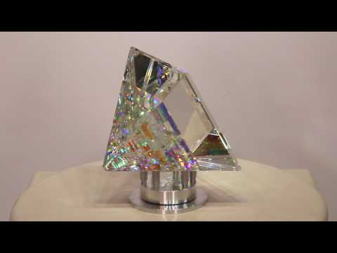 Pyramid Peak - Glass Sculpture by Jack Storms