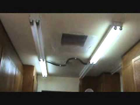 How to remove a surface mounted light fixture...Part 1